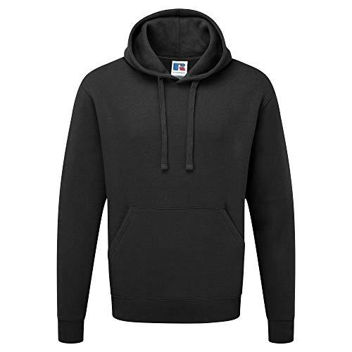 Russell Authentic Kapuzenpullover / Kapuzensweater / Hoodie (L) (Schwarz)