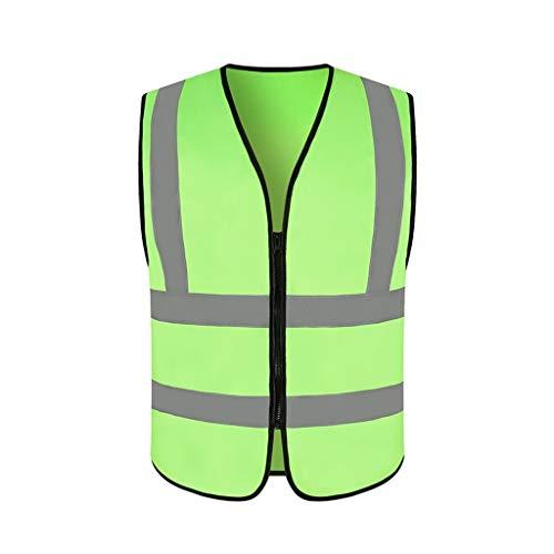 WYX Hohe Reflektierende Sicherheitswesten Für Nachtarbeit Sichtbarkeit Arbeitskleidung Mann Frauen Outdoor Laufen Radfahren Sport Weste,D,M