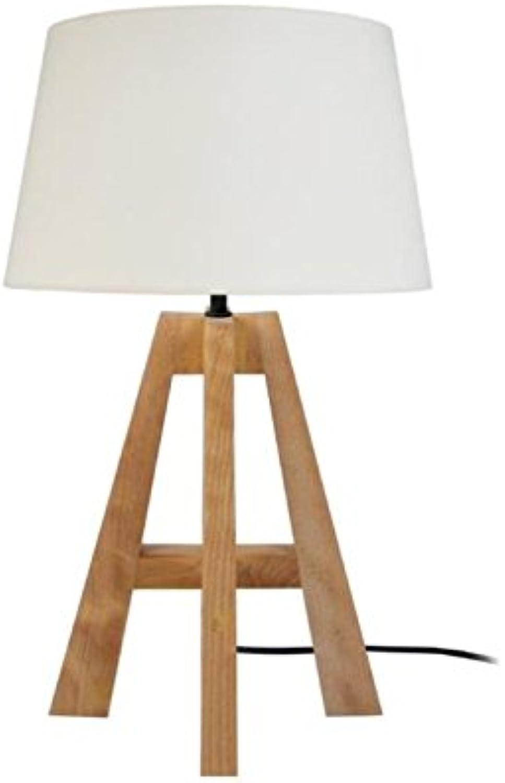 Tosel 65177 Tischleuchte 1 Licht, Holz, E27, 40 40 40 W, weiß, 30 x 54 cm B07841WPV4   Sehr gute Qualität  139e9b