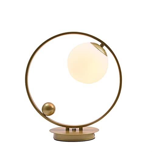 YIFEI2013-SHOP Lámpara de Mesa Lámpara de Mesa Negra de Oro Moderno con lámpara de Metal de Cristal, Luces de Escritorio, Luces, lámparas de Libro, lámparas, Deco, Deco, Deco Lámpara Escritorio