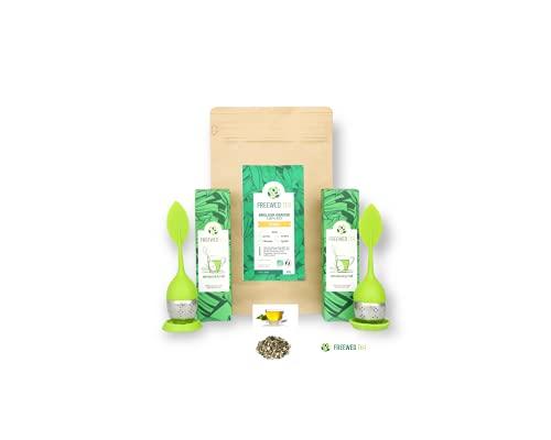 Thé vert Sencha / Detox citron pour un Ventre Plat /Thé et Infusions / Tisane minceur Rapide et Efficace / Thé Amincissant Purifiant / Thé en Vrac 100g + 2 Infuseurs à Thé