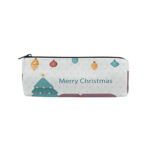 Bonipe Federmäppchen mit lustigem Hund und Weihnachtsbaum