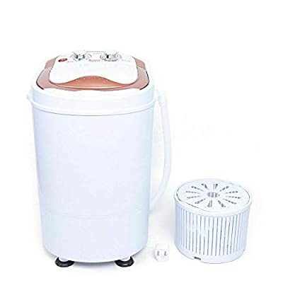 2-in-1 3KG Portable Washing Machine Small Single Tub Laundry Washing Machine Washer And Spin Dryer for Hotel Dorms Apartments College Rooms, Golden