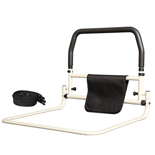 YF Hospital Safety Assist Handle Folding Bedside Grab Bar Bumper Bed Guard Rails Anti-fall Free Installation Get Up For Elderly Adults Toddler Carbon Steel Pipe