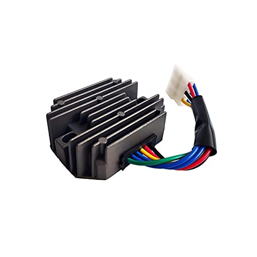 Nuevo regulador de voltaje Rectificador de la motocicleta Ignición de la motocicleta para Kubota y para el saltamontes RS5155 6 RS5101 Cable de metal negro DC 12V Accesorios Reguladores y rectificador