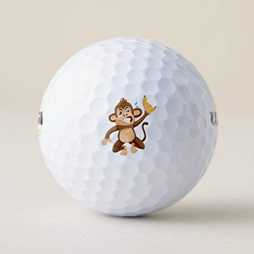 onepicebest Novelty Golf Balls Unique Designs, Angry Monkey Cartoon Golf Balls Funny Golf Balls Gift for Kids Men Womens, Cute Golf for Golfer Practice Training