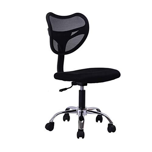 FENXIXI Taburete de Oficina con Respaldo Giratorio a 360 °, Taburete con Respaldo, Taburete Giratorio Super Lujoso, Color Negro