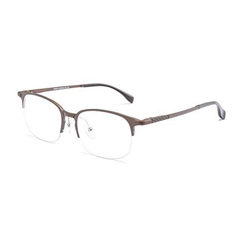 Mjd Zonnebril met aluminium en magnesium, halfframe, ultra lichtblauw, platte spiegel, brilmontuur, hipster