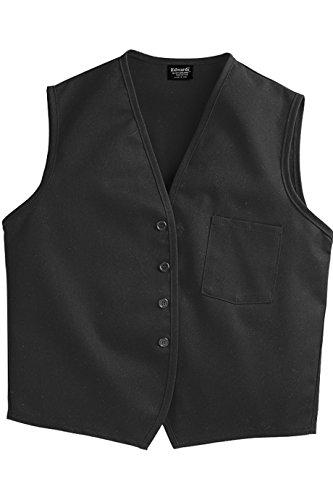 SixStarUniforms Unisex Work Vest with Breast Pocket Black Large