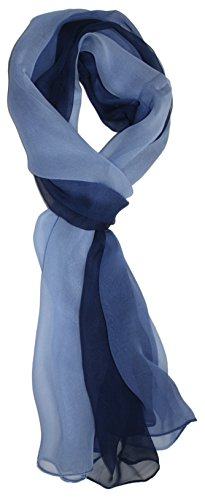Ted and Jack - Silk Ombre Lightweight Accent Scarf (Celtic Blues)