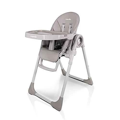 nania Carla - Trona reclinable, altura regulable en 7 posiciones, plegable, compacta, fácil de limpiar (Beige)
