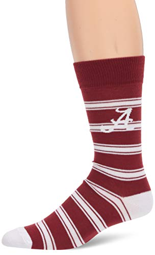 OTS NCAA Alabama Crimson Tide Men's Shephard Dress Sock, Team Color, Large