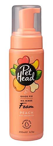 Pet Head Desodorante para Aseo de Perros, Espuma de fijación rápida, para un Secado Simple, champú sin Agua para Todos los Perros