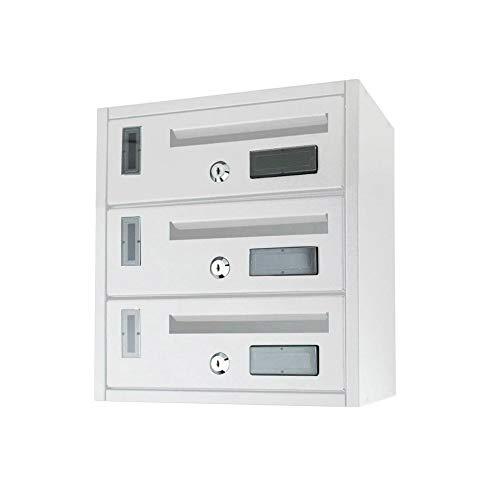 Mediawave Store - Cassetta postale condominiale 3 posti ARTIGIAN FERRO 25x39x36 cm BIANCO
