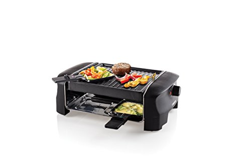 Princess 162800 barbecue party raclette, 600 W, roestvrij staal, 4 personen, zwart