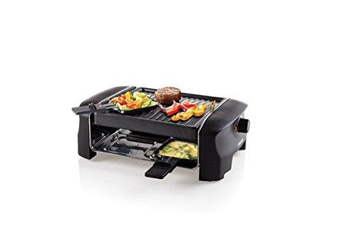 Princess Grill & Party Raclette für bis zu 4 Personen - mit 4 Pfännchen und regelbarem Thermostat, 162800