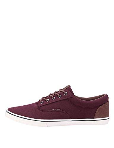 JACK & JONES Men'S Classic Men'S Burgundy Sneakers In Size 44 Burgundy