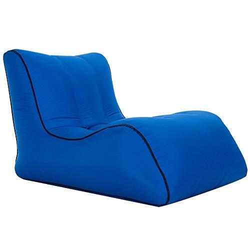 XFZDP Air Sofa im Freien beweglichen Einzel aufblasbaren Bett Feuchtigkeitsbeständig Wasserdichtes Inflatable Faule Schlafsofa (Color : 70x90x65cm Blue)