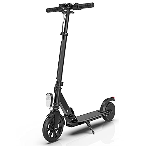 BANGNA Wheel Scooter Patinete eléctrico suspensión Doble Roller Plegable Ajustable Altura, City Scooter Patinete de Grandes Ruedas, robustos con rodamientos, para Niños y Adultos,Negro