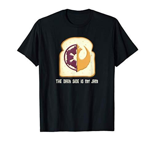 Stars Wars PB&J The Dark Side is My Jam Camiseta