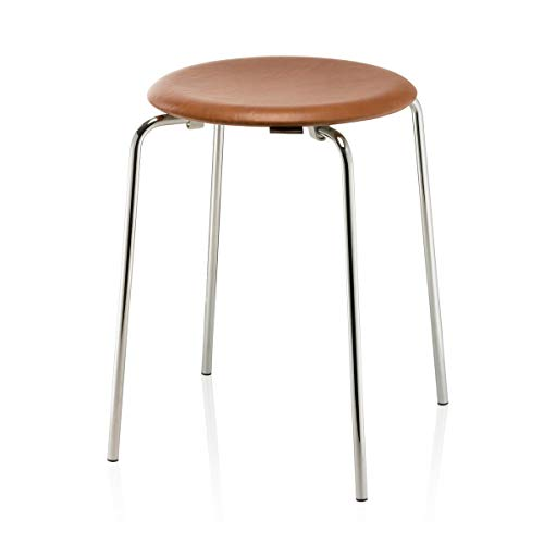 Fritz Hansen - Dot Hocker, Leder/Chrom