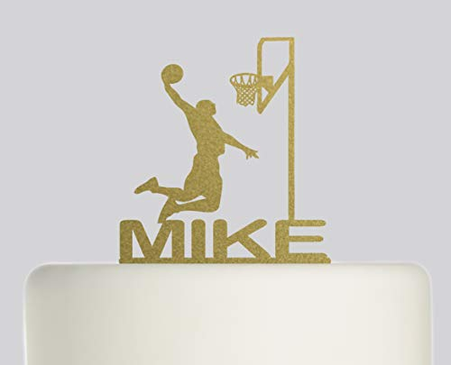 Geburtstagskuchenaufsatz – Basketball Name Tortenaufsatz – personalisierbar mit Ihrem Namen
