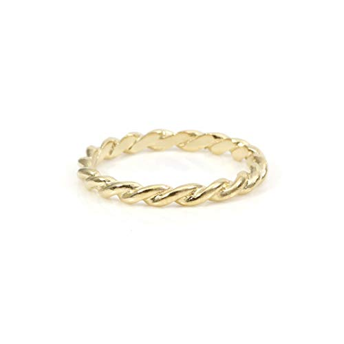 UNIC - Volubilis | Anillo Trenzado - Plata de Ley 925 chapada en Oro de 18k | Joyeria Artesanal elaborada a Mano