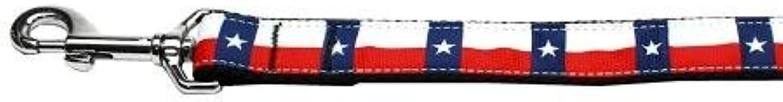 Mirage Pet Products 125183 1004 Texas Flag Nylon Dog Leash, 4'