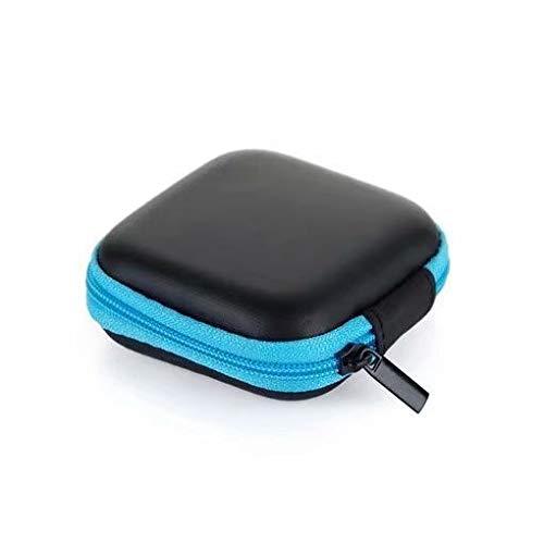 Anti choque Caja Auricular Cuero de la PU Anti choque cargador portatil Universal auricular bolsa estuche(Azul): Amazon.es: Bricolaje y herramientas