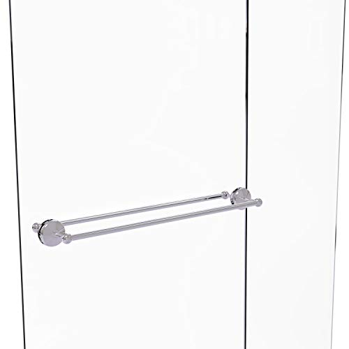 Allied Brass MC-41-BB-30 Monte Carlo Collection 30 Inch Back Shower Door Towel Bar, Polished Chrome