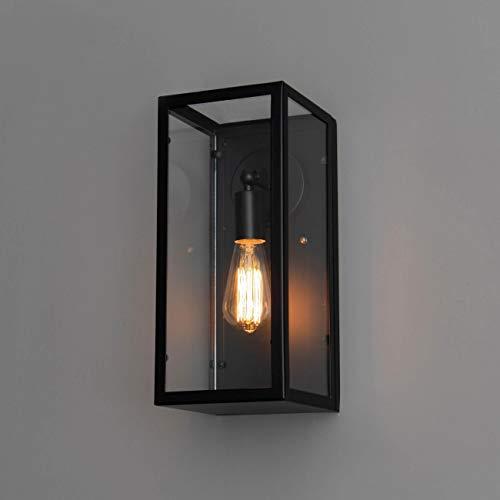 KOSILUM - Applique murale industrielle dans vitrine - Trafalgar - Lumière Blanc Chaud Eclairage Salon Chambre Cuisine Couloir - 1 x 60W - - E27 - IP20