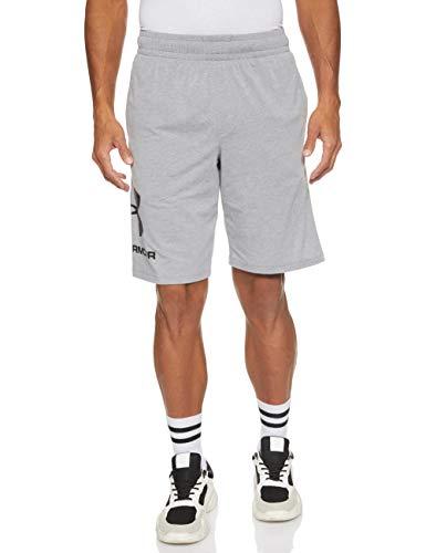 Under Armour Under Armour Herren Sportstyle Cotton Logo Shorts ultraleichte und atmungsaktive kurze Hose, komfortable Sportshorts mit loser Passform, Grau, Large