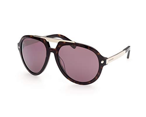 DSQUARED2 Gafas de sol DQ0372 52S Gafas de sol Hombre color Havana burdeos medida de la lente 62 mm