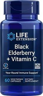 Life Extension Black Elderberry + Vitamin C, 60 Count