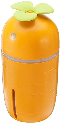 200 ml mini humidificador de aire USB difusor aceite esencial 3 color Cool Mist purificador humidificador luz noche zanahoria forma naranja