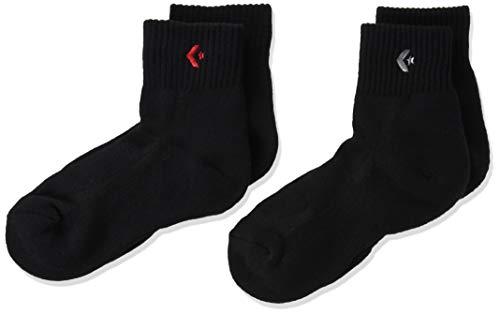 [コンバース] バスケ 靴下 試合/練習用 ソックス 2Pニューアンクルソックス 2足組 CB16006P キッズ ブラック 19.0