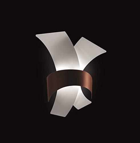 Selene illuminazione Calypso Wandleuchte 7 W, weiß mit Bronzeband