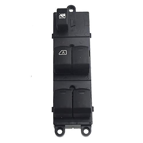 LLZER Vorne Links Master-Fensterheber Schalter/Fit for Nissan Navara D40 / Fit for Qashqai/Fit for Pathfinder 2004-2016 25401-EB30B 25401-JD001 (Color : Black)