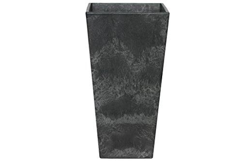 Artstone Vaso da Fiori, per Piante Ella, Resistente al Gelo e Leggero, Nero, 35x70cm