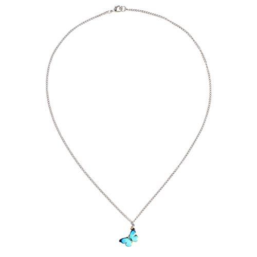 Happyyami Mariposa Colgante Collar de Acero Inoxidable Delicada Opal Mariposa Gargantilla Joyería...