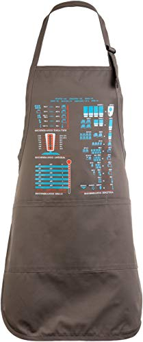 Cooking Conversion Chart | Funny, Useful Cook, Chef, Baking Baker Pocketed Apron Pebble Brown