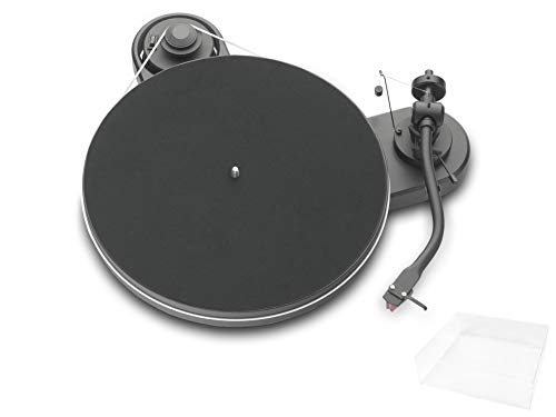 Pro-Ject RPM 1.3 Genie, Audiophiler Plattenspieler mit 2M Red und Abdeckhaube, Matt Schwarz