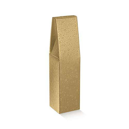 CRAFTY CAPERS Caja de regalo de botella de vino de burbujas de oro para 2 botellas