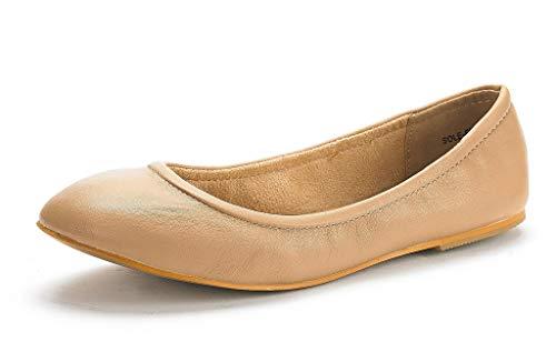 DREAM PAIRS Women s Sole-Fina Nude Solid Plain Ballet Flats Shoes - 9 M US