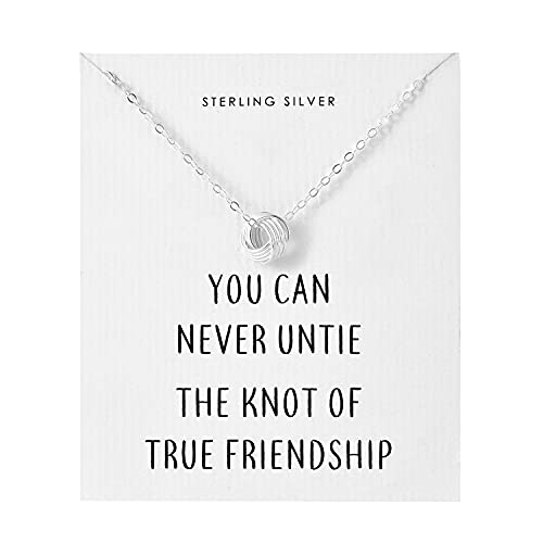 Philip Jones Sterling Silver Friendship Quote Knot Neckl