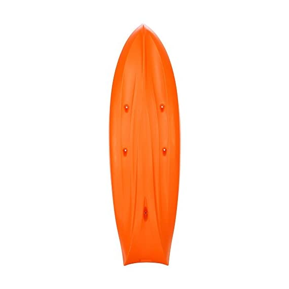 """Lifetime Kokanee Sit-On-Top Kayak, Orange, 10'6"""" 2 Constructed of UV-Protected High-Density Polyethylene (HDPE). Hull Design Provides Ultra Stability & Great Tracking. Scupper Holes Drain Cockpit Area Scupper Holes Drain Cockpit Area. Easy Carry Handles. Multiple Footrest Positions for Different Size Riders 2 Ditty Trays and Shock Cord Straps to Secure Loose Items. Optional Third Jump Seat"""