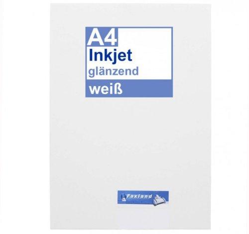 Inkjet Klebefolie 10 x DIN A4 weiß glänzend - Druckerfolie zum bedrucken mit Tinte