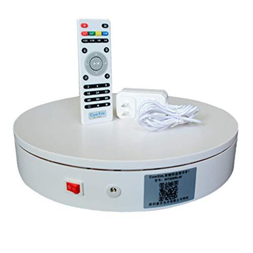 N / A Professioneller Elektrischer 360-Grad-Drehteller Für Die Fotografie, Automatische Drehplattform, Perfekt Für 360-Grad-Bilder Für Die Fotografie(Color:Weiß,Size:50 * 10cm)