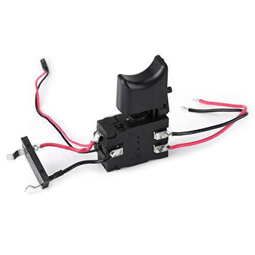 Interruptor de taladro eléctrico, controlador de velocidad de taladro manual inalámbrico eléctrico, disparador de velocidad de taladro de 12 V con luz pequeña, interruptor regulador de taladro