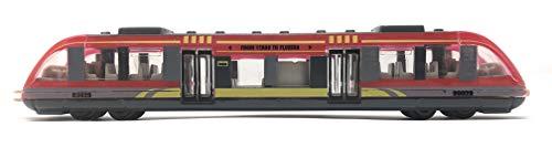 Toi-Toys Zug Eisenbahn Metall Spielzeug S-Bahn Straßenbahn Spielzeugbahn rot